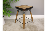 Small Square Wooden Stool