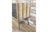 Striped Effect Bedside Cabinet 5