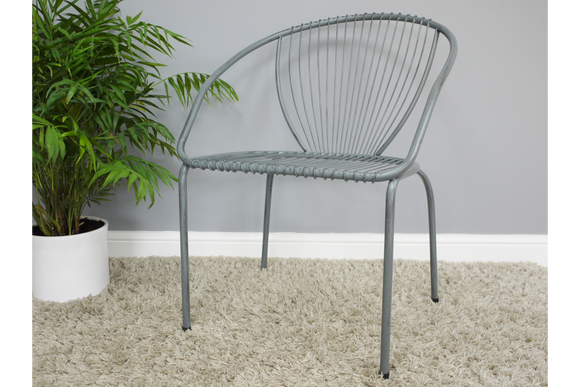 Wide Metal Chair