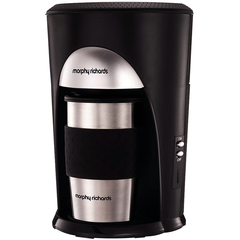 Morphy Richards On The Go 162740 Filter Coffee Machine - Black / Brushed Steel