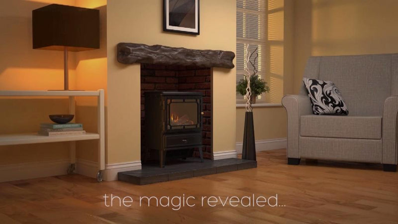Dimplex Atherton ATH20 Coal Bed Inset Fire With Remote Control - Brass
