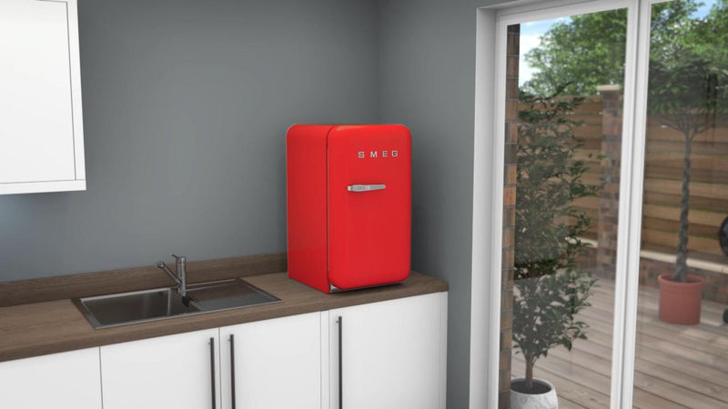 Smeg Right Hand Hinge FAB5RRD3 Fridge - Red - A+++ Rated