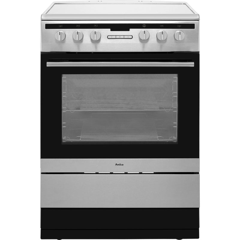 Amica 608CE2TAXX 60cm Electric Cooker with Ceramic Hob - Stainless Steel - A Rated
