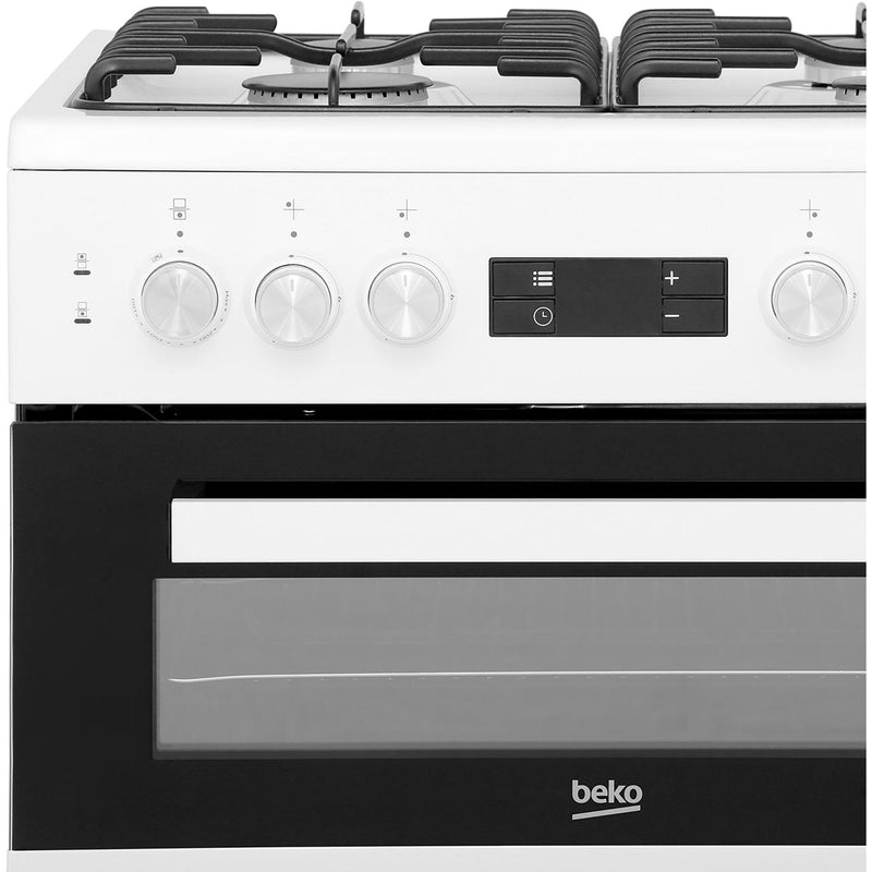 Beko KDDF653W 60cm Dual Fuel Cooker - White - A/A Rated - Needs 7.2KW Electrical Connection