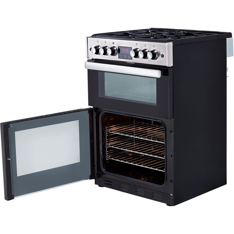 Belling Cookcentre 60G Gas Cooker with Full Width Electric Grill - Stainless Steel - A+/A Rated