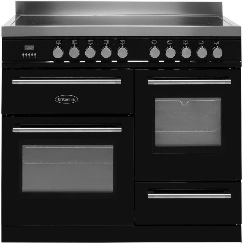 Britannia Q Line RC-10XGI-QL-K 100cm Electric Range Cooker with Induction Hob - Black - A/A Rated