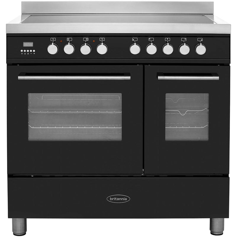 Britannia Q Line RC-9TI-QL-K 90cm Electric Range Cooker with Induction Hob - Black - A/A+ Rated