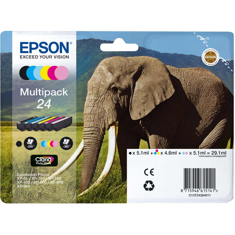 Epson Elephant Multipack 6-colours 24 Claria Photo HD Ink Cartridge