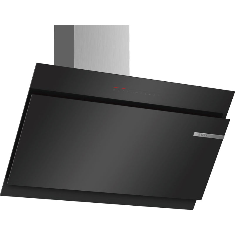 Bosch Serie 6 DWK97JQ60B 89 cm Angled Chimney Cooker Hood - Black - A Rated