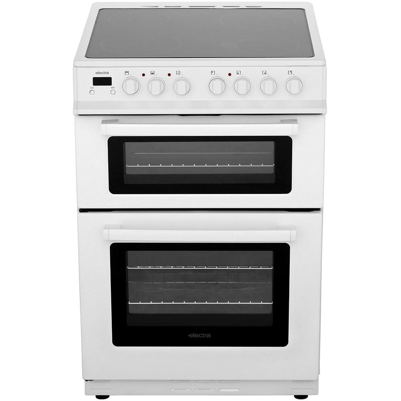 Electra TCR60W 60cm Electric Cooker with Ceramic Hob - White - A Rated