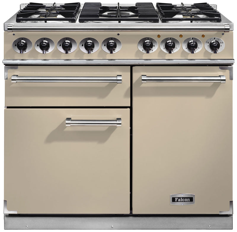 Falcon 1000 DELUXE F1000DXDFCR/CM 100cm Dual Fuel Range Cooker - Cream - A/A Rated