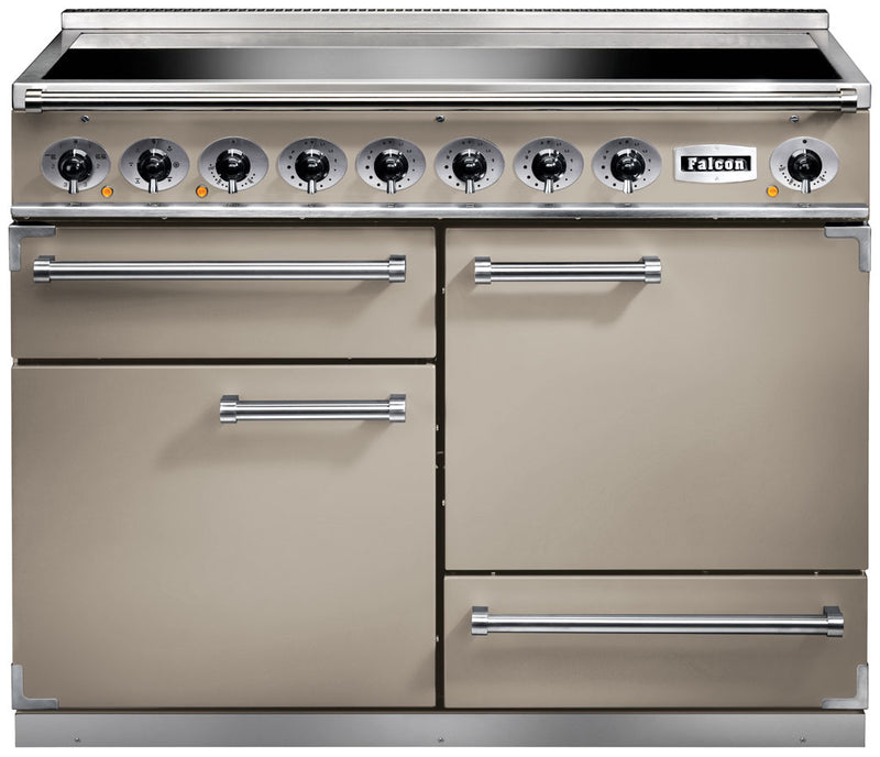 Falcon 1092 DELUXE F1092DXEIFN/N 110cm Electric Range Cooker with Induction Hob - Fawn - A/A Rated