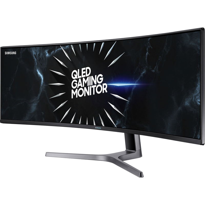 "Samsung C49RG90 Quad HD 48.8"" 120Hz Curved Gaming Monitor with AMD FreeSync - Blue / Grey"