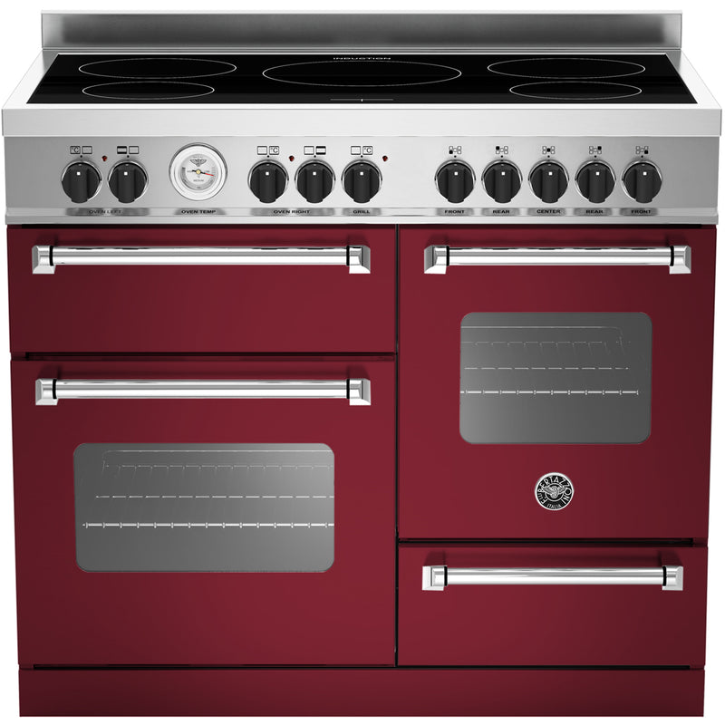 Bertazzoni Master Series MAS100-5I-MFE-T-VIE 100cm Electric Range Cooker with Induction Hob - Burgundy - A/A Rated