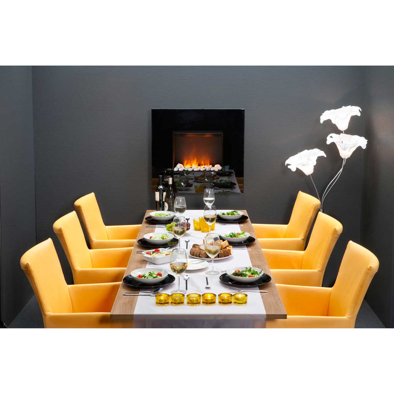 Dimplex Pemberley PEM20 Pebble Bed Wall Mounted Fire With Remote Control - Black