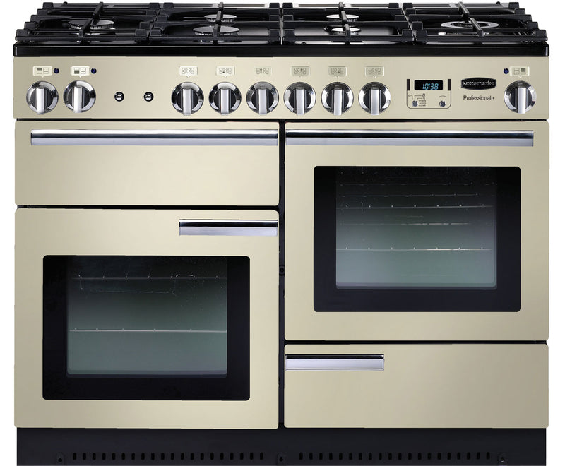 Rangemaster Professional Plus PROP110DFFCR/C 110cm Dual Fuel Range Cooker - Cream / Chrome - A/A Rated