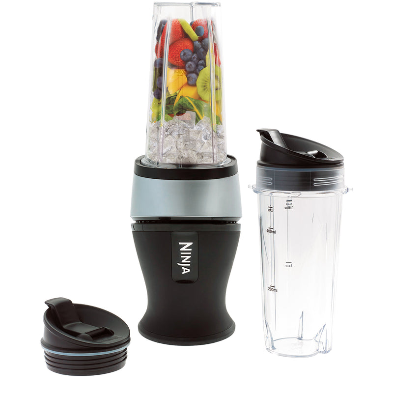 Ninja Nutri Ninja Slim QB3001UKS Smoothie Maker with 2 Drink Containers - Silver