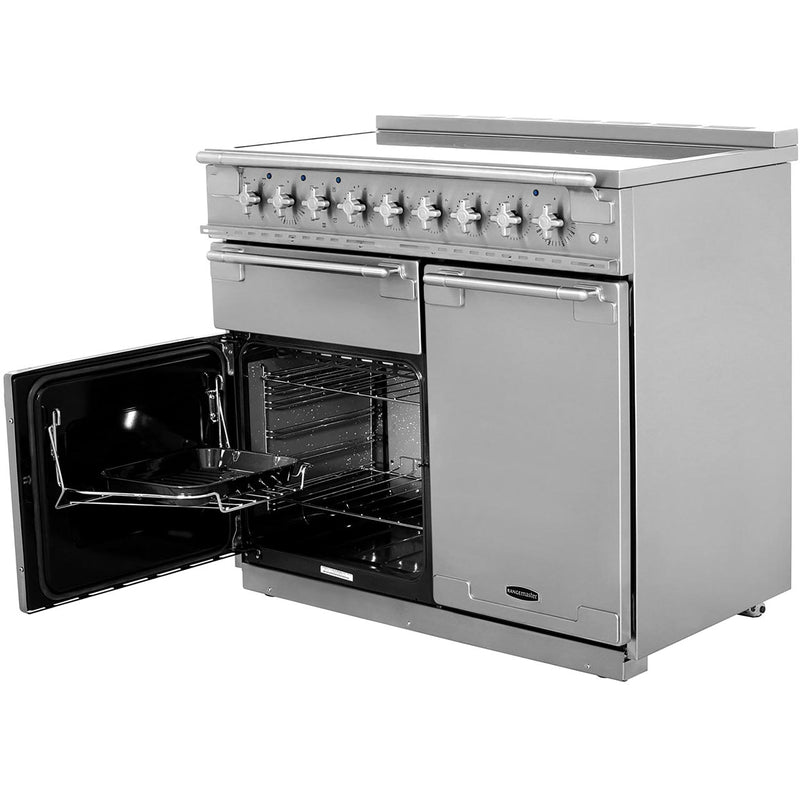 Rangemaster Elise ELS100EISS 100cm Electric Range Cooker with Induction Hob - Stainless Steel - A/A Rated