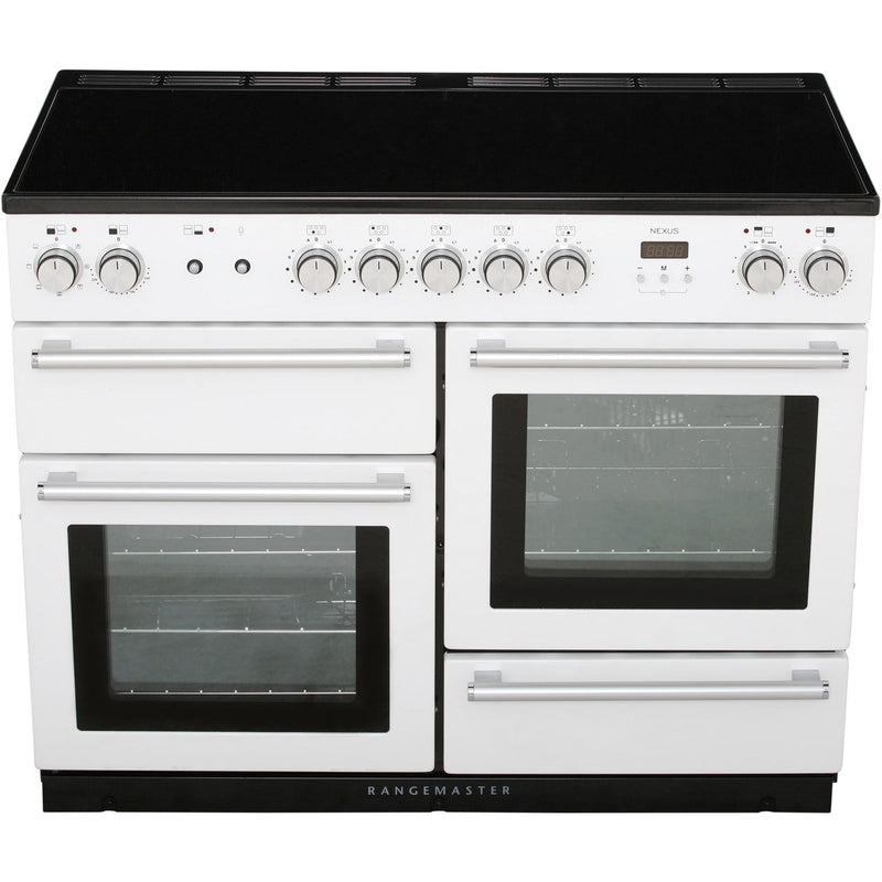 Rangemaster Nexus NEX110EIBL/C 110cm Electric Range Cooker with Induction Hob - Black / Chrome - A/A Rated