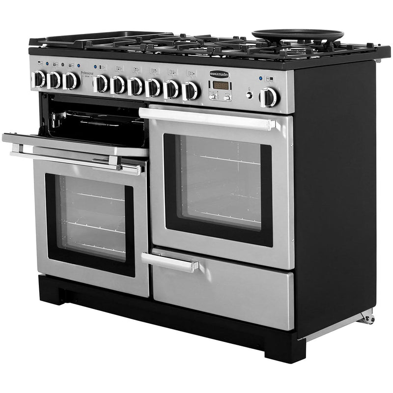 Rangemaster Professional Deluxe PDL110DFFCR/C 110cm Dual Fuel Range Cooker - Cream - A/A Rated
