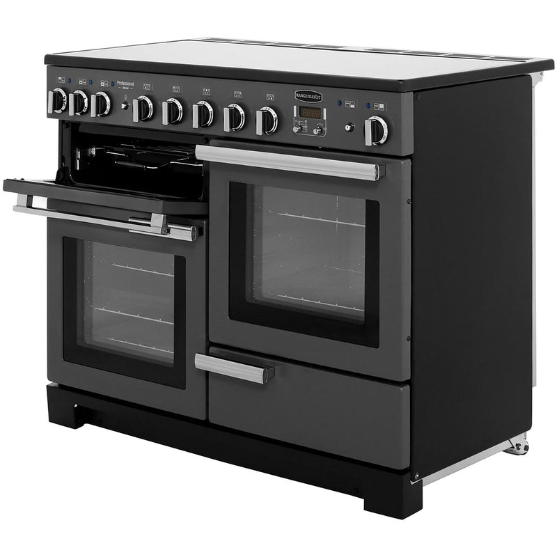 Rangemaster Professional Deluxe PDL110EIWH/C 110cm Electric Range Cooker with Induction Hob - White - A/A Rated
