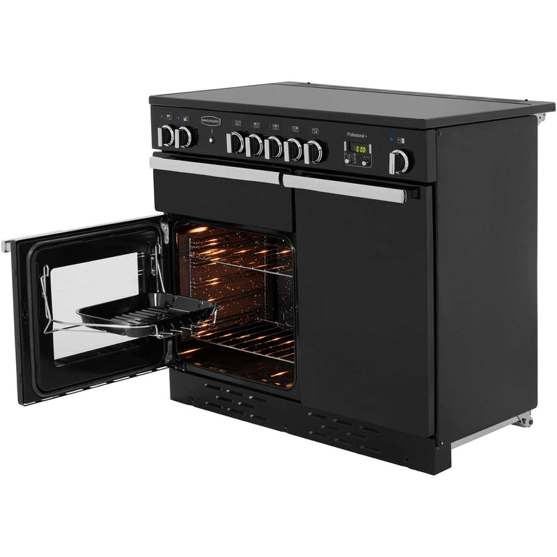 Rangemaster Professional Plus PROP100EIGB/C 100cm Electric Range Cooker with Induction Hob - Black - A/A Rated