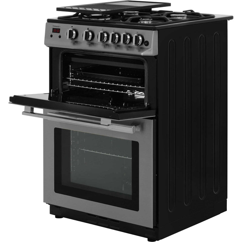 Rangemaster Professional Plus 60 PROP60NGFSS/C 60cm Gas Cooker with Variable Gas Grill - Stainless Steel / Chrome - B/B Rated