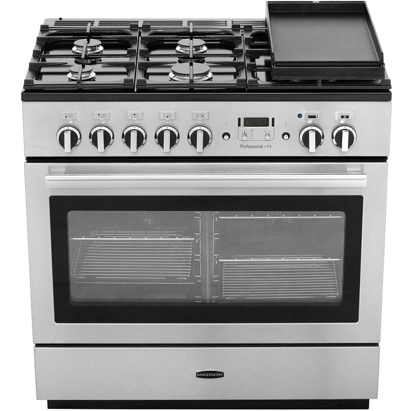 Rangemaster Professional Plus FX PROP90FXDFFCY/C 90cm Dual Fuel Range Cooker - Cranberry / Chrome - A Rated