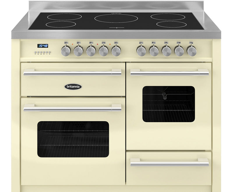 Britannia Delphi RC-11XGI-DE-CR 110cm Electric Range Cooker with Induction Hob - Cream - A/A Rated