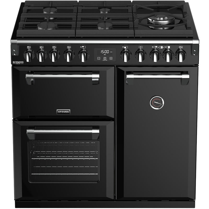 Stoves Richmond Deluxe S900GTG 90cm Dual Fuel Range Cooker - Cream - A/A/A Rated