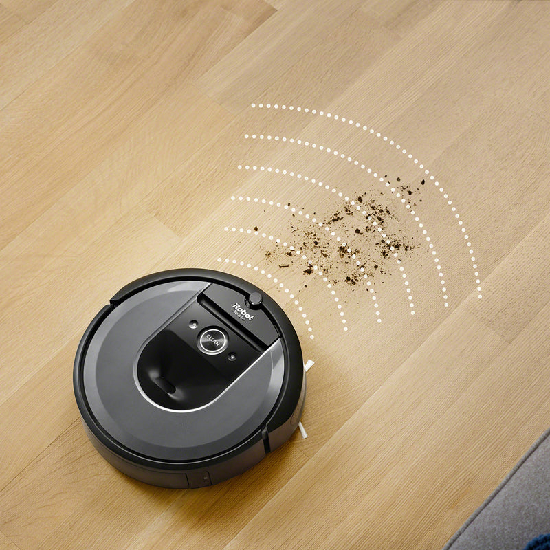 iRobot Roomba I7558+ Robotic Vacuum Cleaner with Auto Dirt Disposal System - Charcoal