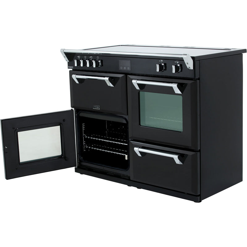 Stoves Richmond Deluxe S1100EI 110cm Electric Range Cooker with Induction Hob - Black - A/A/A Rated