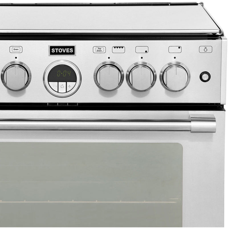 Stoves Sterling STERLING600G 60cm Gas Cooker with Full Width Electric Grill - Stainless Steel - A/A Rated