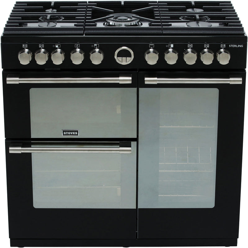 Stoves Sterling S900DF 90cm Dual Fuel Range Cooker - Stainless Steel - A/A/A Rated