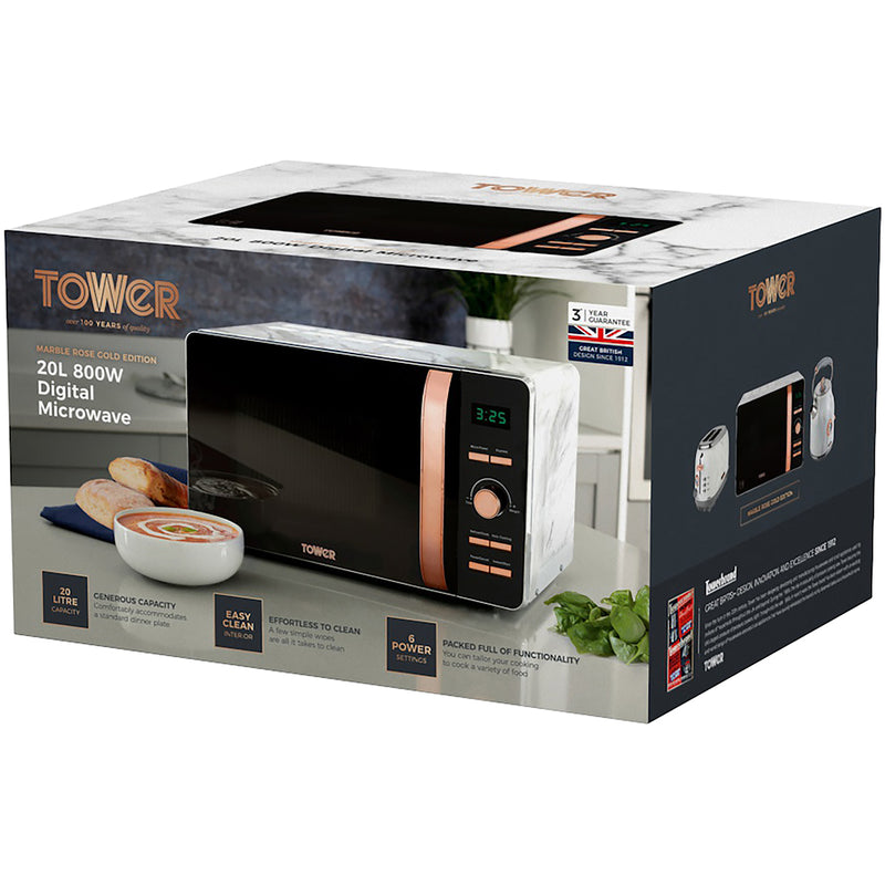 Tower T24021 20 Litre Microwave - Black