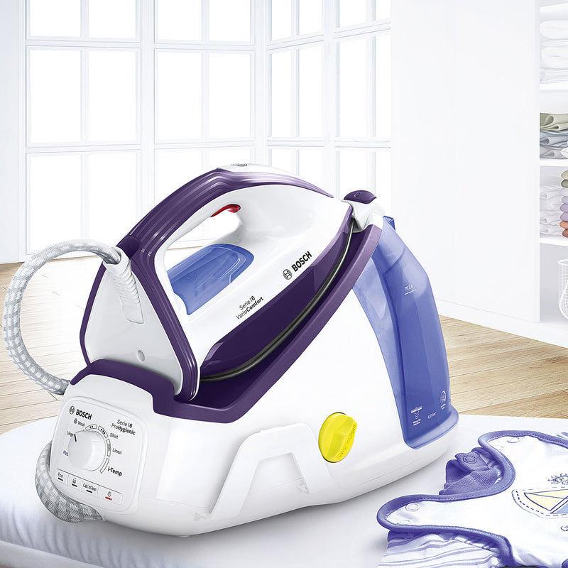 Bosch Serie 6 ProHygienic TDS6081GB Pressurised Steam Generator Iron - White