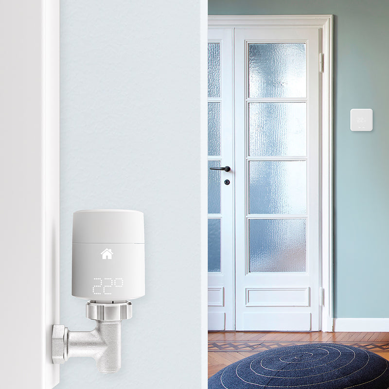 tado Smart Thermostat - Starter Kit V3+ Includes Two Add-on Smart Radiator Thermostats - DIY Install - White
