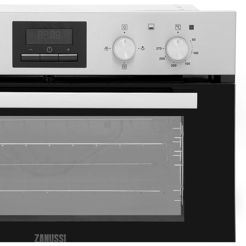 Zanussi ZOF35661XK Built Under Double Oven - Stainless Steel - A/A Rated