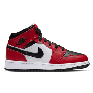 TÊNIS NIKE AIR JORDAN 1 MID CHICAGO BLACK TOE
