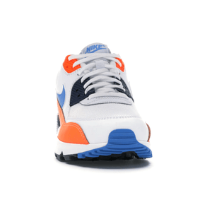 TÊNIS NIKE AIR MAX 90 WHITE PHOTO BLUE TOTAL ORANGE