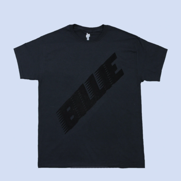 CAMISETA BLACK FEATURING FLOCKED BILLIE LOGO