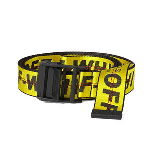 CINTO OFF-WHITE INDUSTRIAL BELT (SS19) AMARELO/PRETO