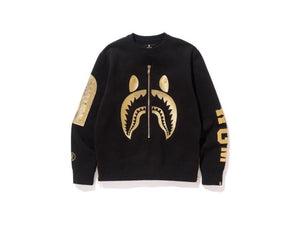 MOLETOM BAPE GOLD SHARK EMBROIDERY