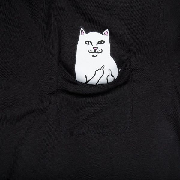 CAMISETA RIPNDIP LORD NERMAL POCKET TEE BLACK/PRETO