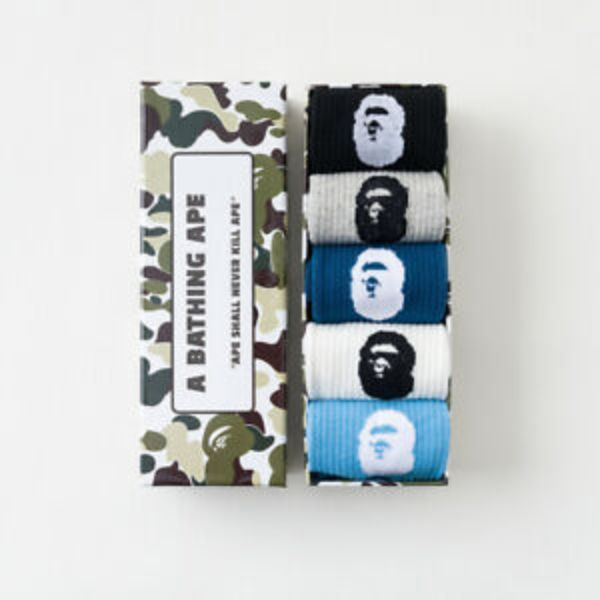 BOXES KIT MEIAS BAPE PACK CAMO (5 MEIAS)
