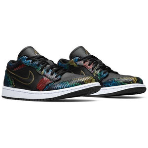 TÊNIS JORDAN 1 LOW MULTICOLOR SNAKESKIN