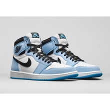 Carregar imagem no visualizador da galeria, TÊNIS JORDAN 1 RETRO HIGH WHITE UNIVERSITY BLUE BLACK (2021)