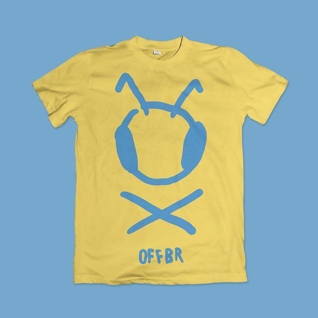 T-SHIRT BLUE BLUE BEE - OFFBR