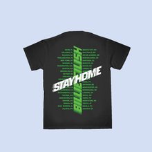 Carregar imagem no visualizador da galeria, CAMISETA BILLIE EILISH STAY HOME BLACK AND GREEN TOUR