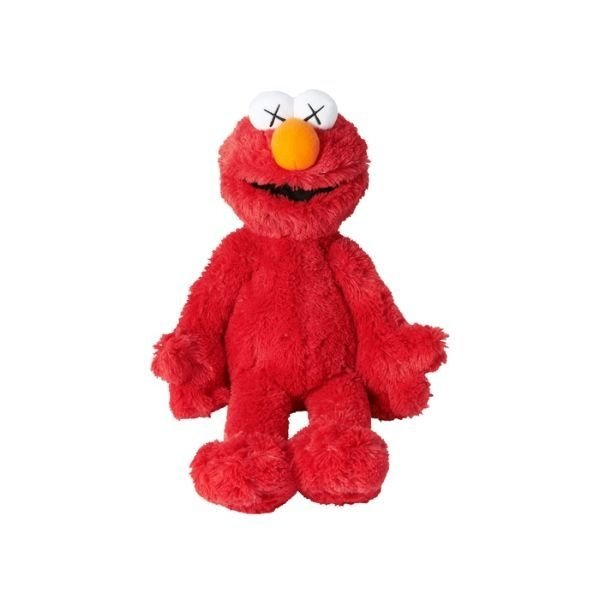 BONECO KAWS SESAME STREET UNIQLO ELMO PLUSH TOY RED